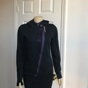 BENCH black / Purple Hoodie Size M women's